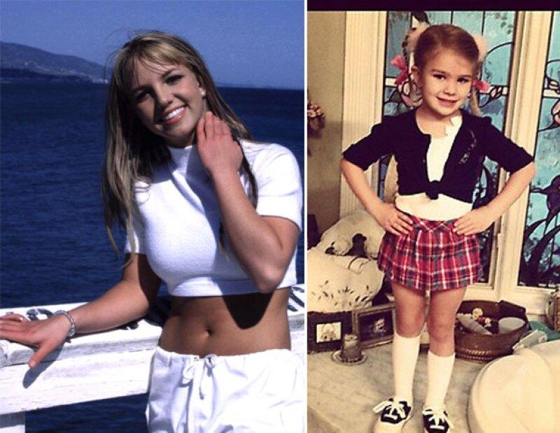 """La hermana menor de la cantante, Jamie-Lynn Spears, compartió una foto en su Twitter donde su hija de cuatro años tiene puesto un conjunto como el que usó Brit en el video de """"Baby One More Time""""."""