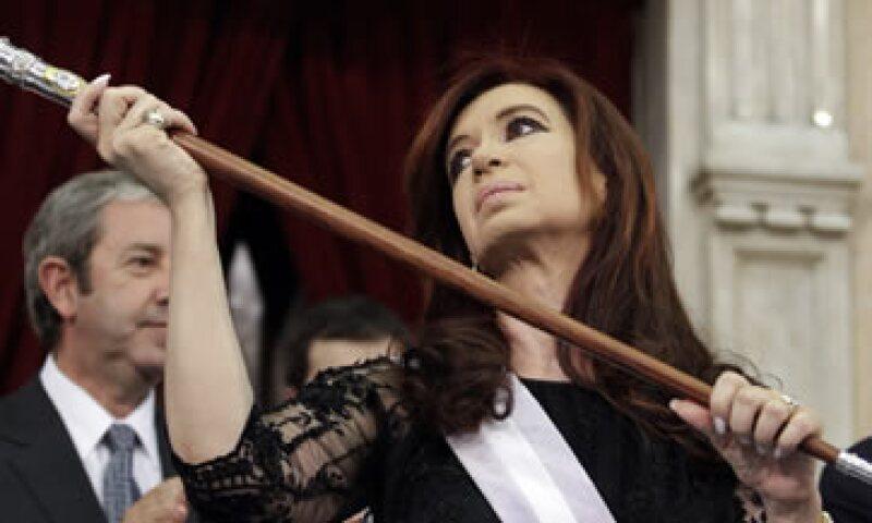 En su mensaje inaugural, Cristina Fernández destacó el crecimiento de la economía argentina en los últimos años. (Foto: AP)