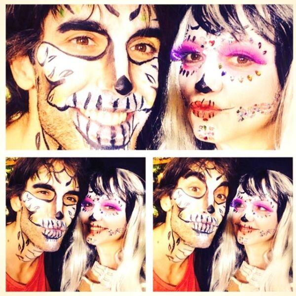 La conductora del programa Hoy, Andrea Legarreta, publicó fotos en su Twitter del elenco de dicho programa, en los que destaca el maquillaje de catrín de Pedro Prieto.