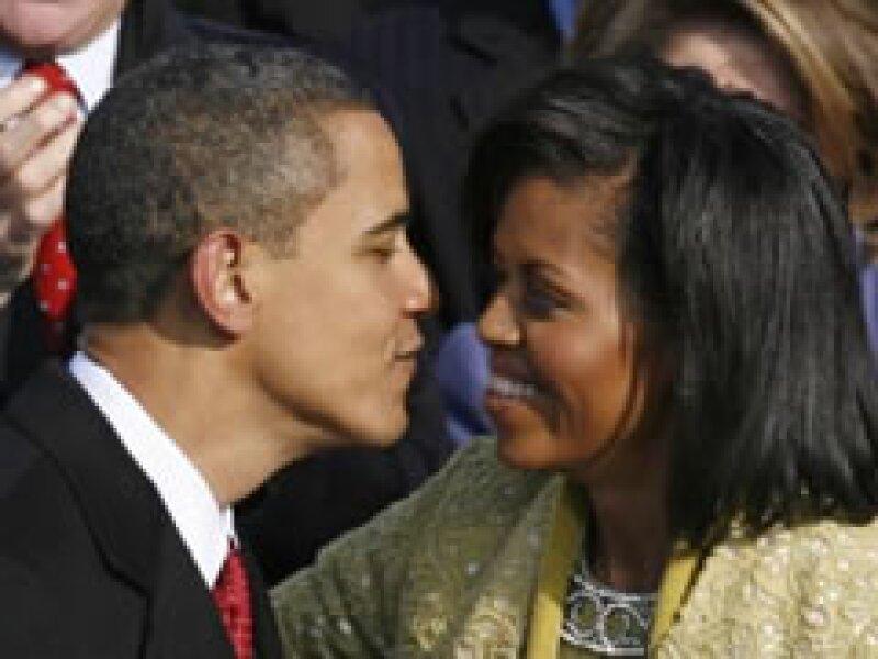 Barack Obama estuvo acompañado de su esposa Michell en la toma de juramento. (Foto: Reuters)