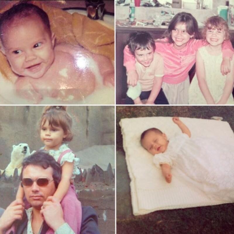 Victoria compartió imágenes de su infancia.