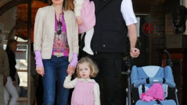 Los Príncipes de Asturias Felipe y Letizia llegan con sus hijas, Leonor y Sofía, a Palma de Mallorca al Club Náutico en Palma, Mallorca.