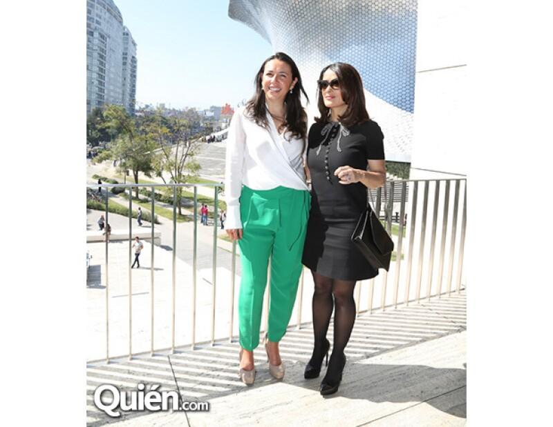 Aquí en el desayuno organizado por nosotros en el Museo Jumex con Laura Manzo, editora general de Quién.
