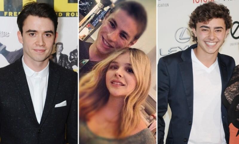 Según rumores y algunas fotos juntos, ellos fueron novios de Chloe en el pasado. Izquierda: Jamie Blackley. En medio: Cameron Fuller. Derecha: Jansen Pannetiere.
