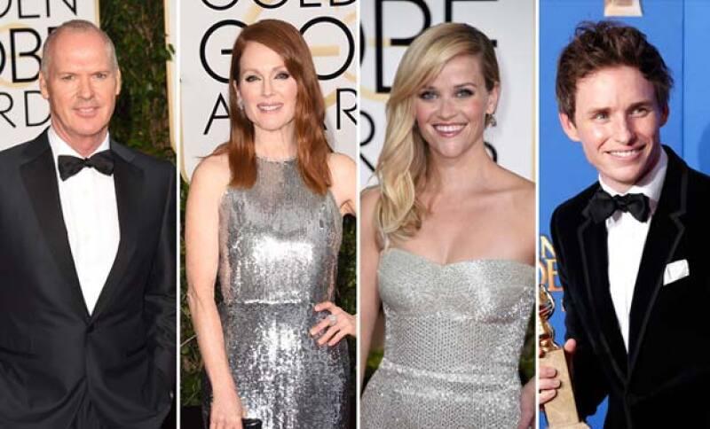 Actrices como Julianne Moore y Emma Stone no pudieron ni contener la emoción, al igual que sus compañeros actores que también resultaron nominados.