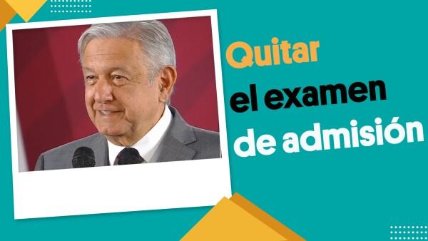#EnSegundos ⏩ #AMLO quiere decirle adiós a los exámenes de admisión de las universidades públicas 📚