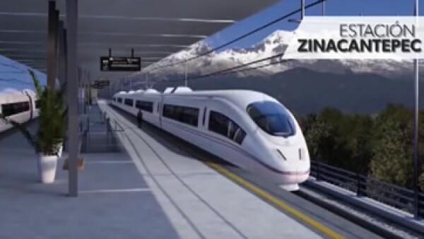 El proyecto del Tren Interurbano utilizará 15 trenes eléctricos que correrán a una velocidad promedio de 90 kilómetros por hora (Foto: SCT/Cortesía )