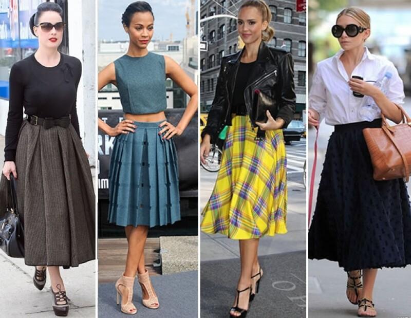 De Jessica Alba a Dita von Teese pasando por Mary Kate Olsen esta tendencia comienza a imperar en las calles y te decimos cómo vestirla.