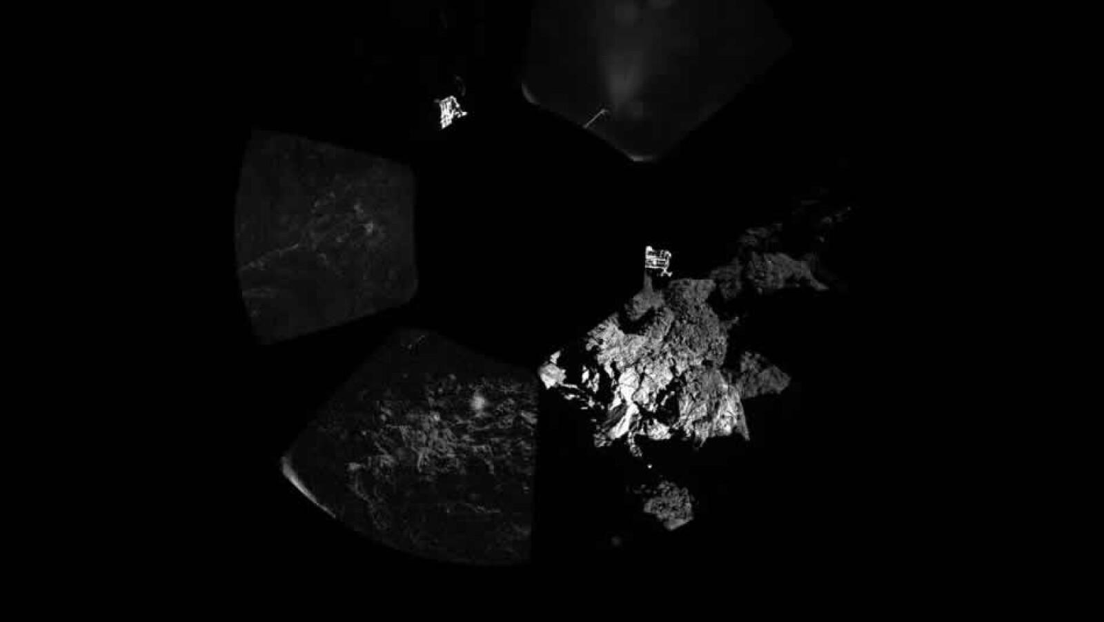 panoramica cometa philae