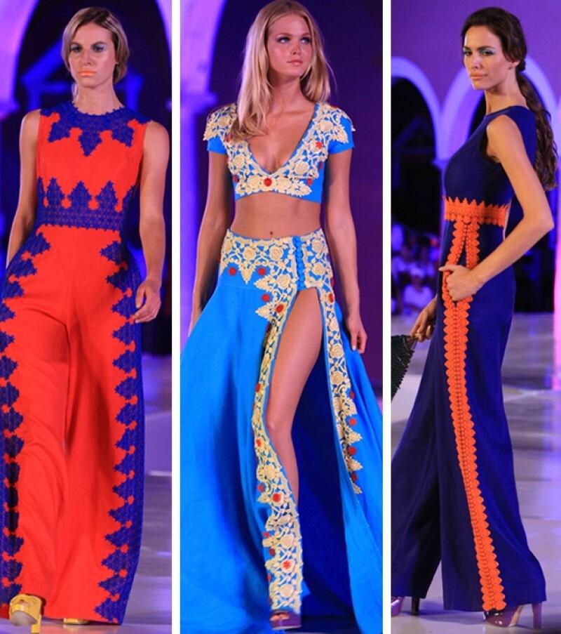 David Salomón trabajó su nueva gama con textiles ligeros.