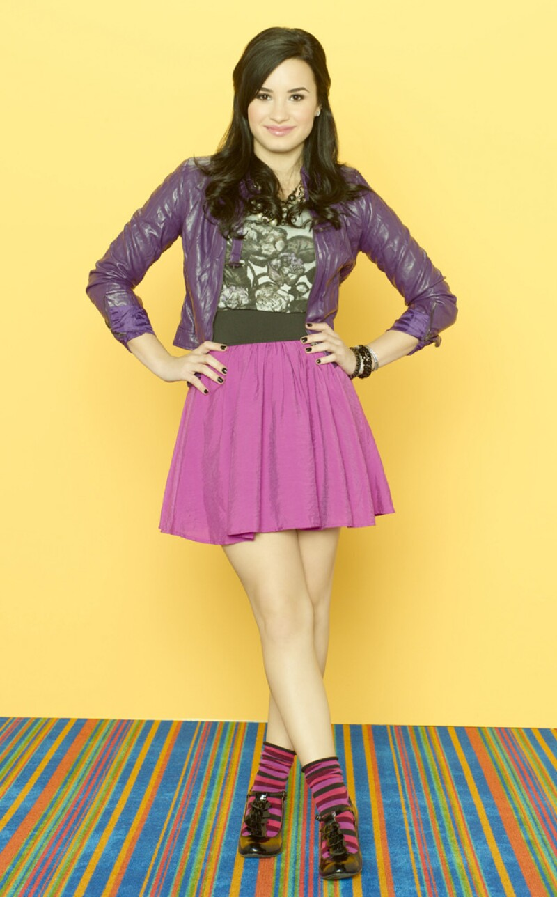 Demi era todo colores y diversión en Sonny with a chance.