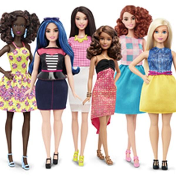 Mattel introdujo muñecas de diferentes tamaños y tonos de piel para celebrar la diversidad de la población.
