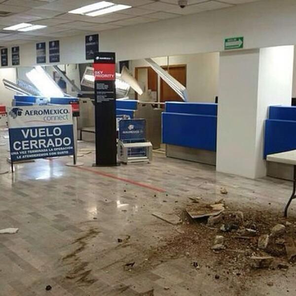 el Aeropuerto Internacional de Tapachula, estado de Chiapas