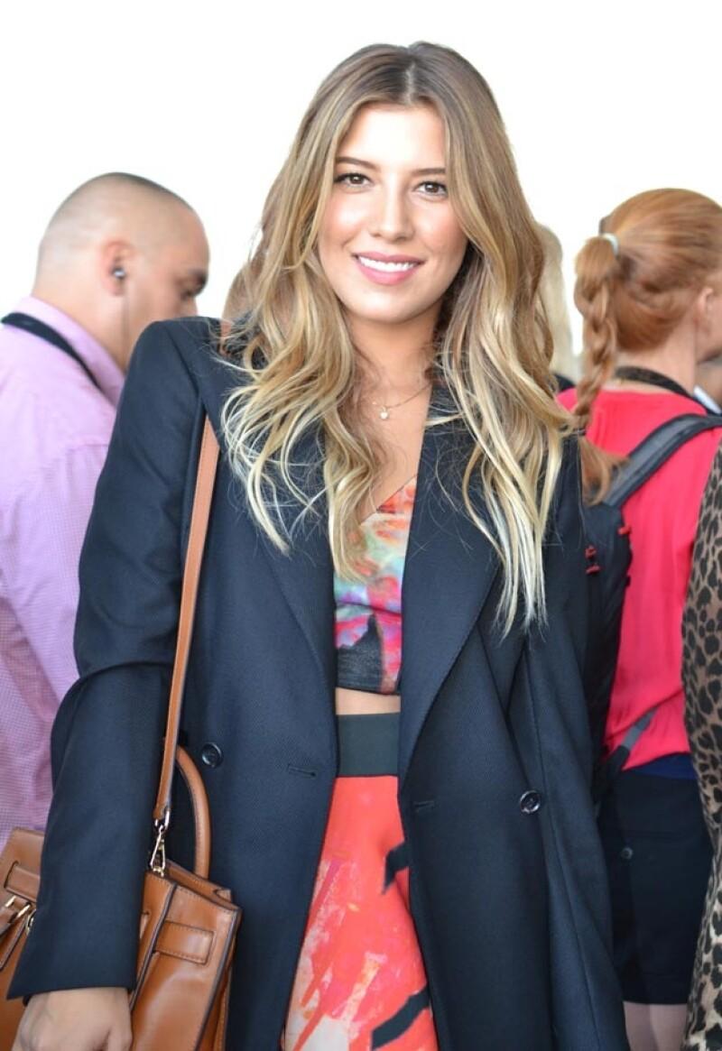 La modelo asistió como invitada al desfile de Michael Kors.