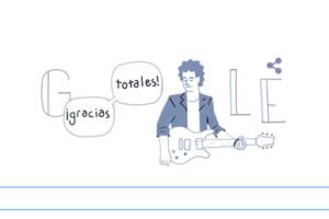 Google conmemoró el cumpleaños de Gustavo Cerati con un doodle.
