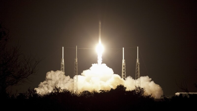 despegue del cohete spacex