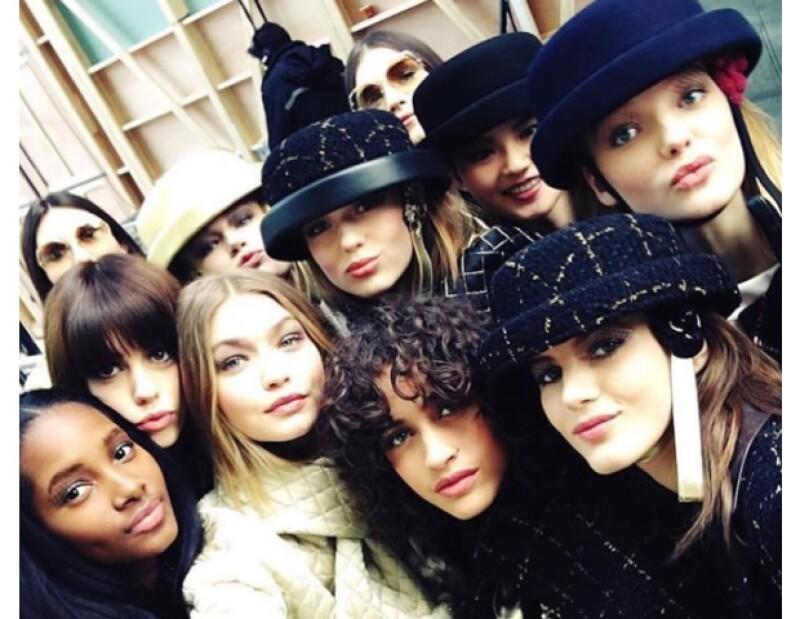 Selfie para Chanel.