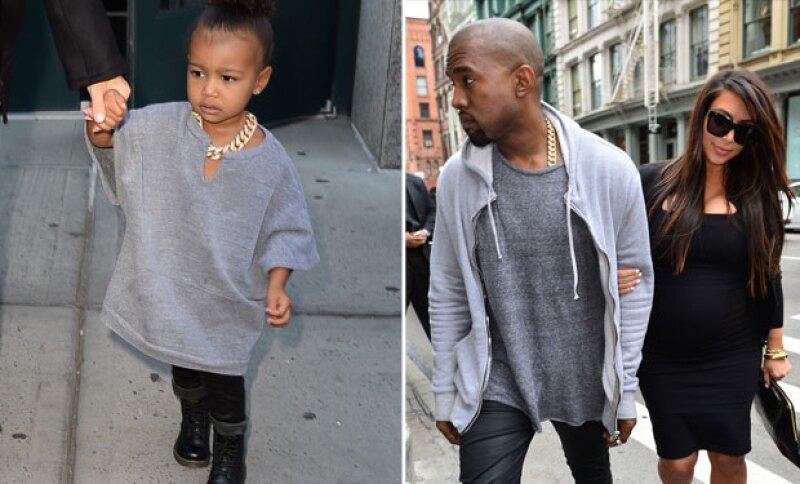 A North la visten igual que Kanye en más de una ocasión.