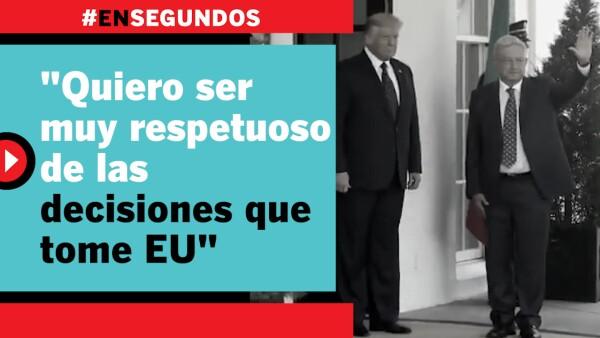 """""""Quiero ser muy respetuoso de las decisiones que tome EU""""   #EnSegundos"""