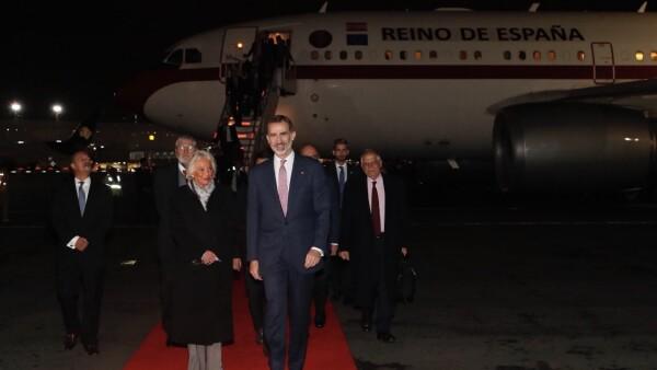 Felipe VI ya llegó a a México