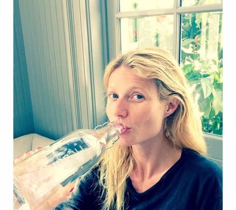 Gwyneth Paltrow presumió uno de sus saludables hábitos.