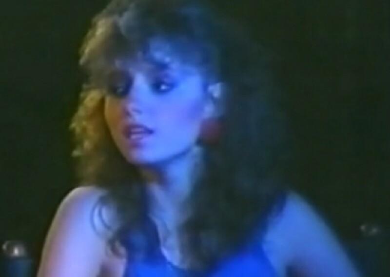 Angélica en sus primeras apariciones en TV a finales de los 80.