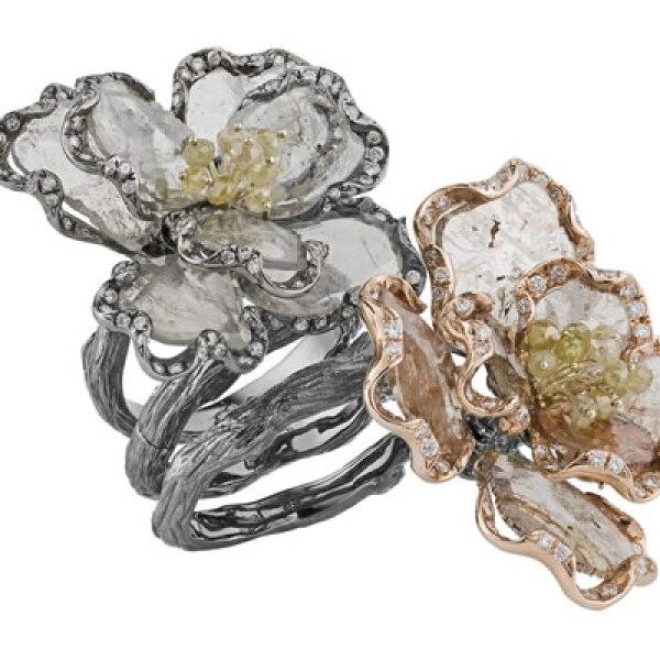 Para este tipo de corte, se utilizan láminas del diamante en bruto, un sobrante que antes se tiraba al terminar el pulido de la piedra.