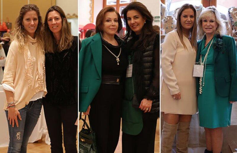 Sharon Fastlicht y Laura Laviada; María Luisa Serna y Tere Cabal; Leslie y Stephanie Fastlicht.