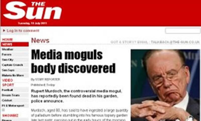 Lulz Security se atribuyó el ataque al diario The Sun a través de un mensaje en Twitter. (Foto: Cortesía Forbes)