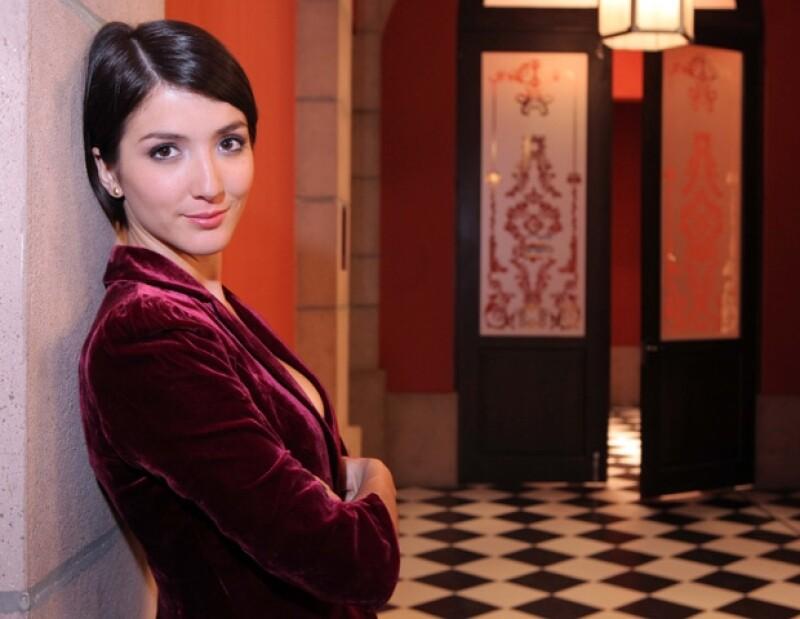 La protagonista de la serie Infames dio estar muy contenta en su nueva faceta de mujer casada.
