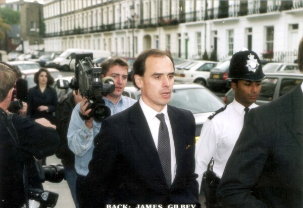 James Gilbey Businessman Friend Of Princess Diana After Attending His Former Fiancee Lady Alethea Savile's Funeral. **original Print Held In Kensington** Pkt2864 - 195740.