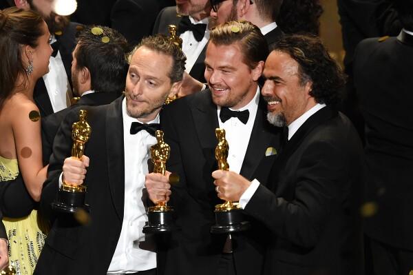 Alejandro G. Iñárritu, Leonardo DiCaprio, y Emmanuel Lubezki