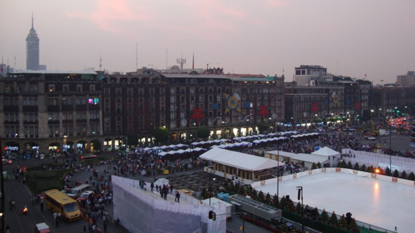 Inauguración pista de hielo Zócalo