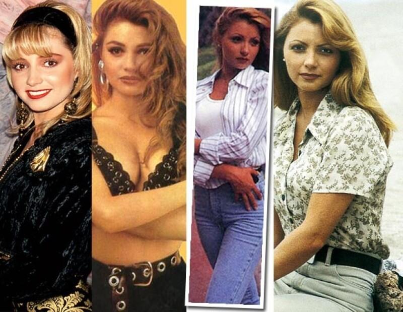 Angélica Rivera adoptó en sus inicios el look de los 90.