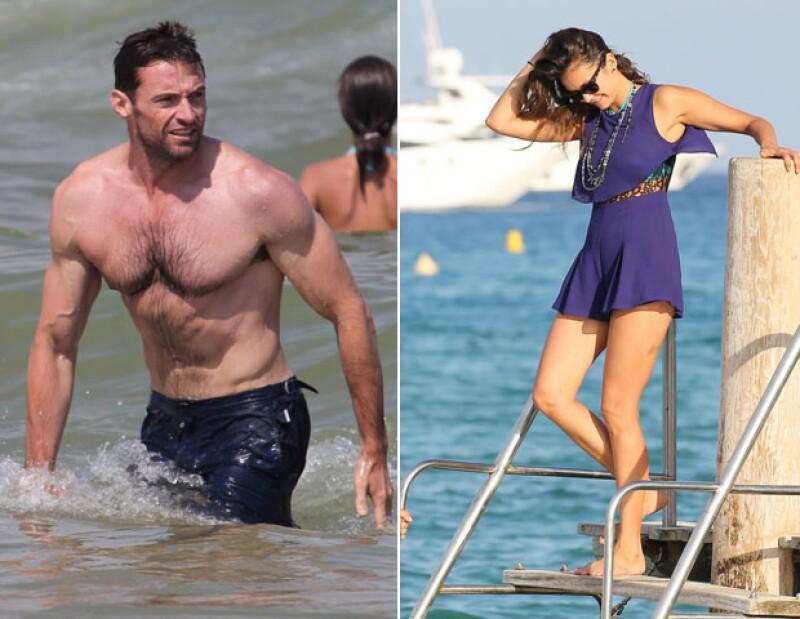 Toda una visión, Hugh Jackman y Nina Dobrev en sus respectivos viajes a St. Tropez.