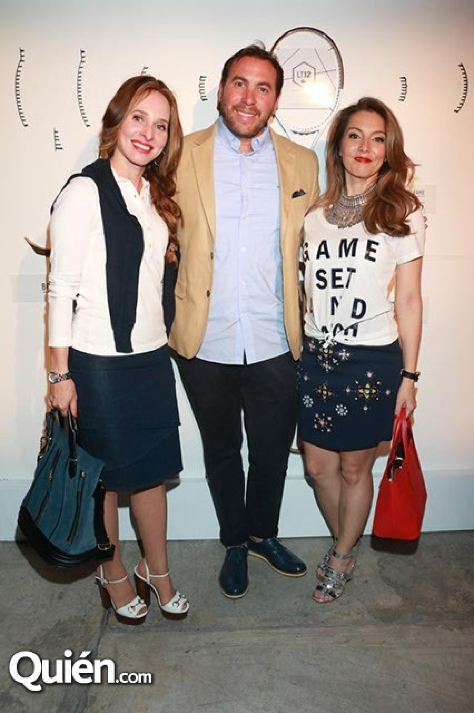 Alessandra Barylka, Jorge Barylka y Patricia Valiente
