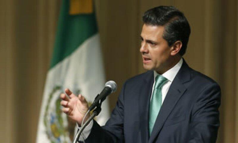 El presidente Peña Nieto encabezó la presentación del programa (Foto: AP)