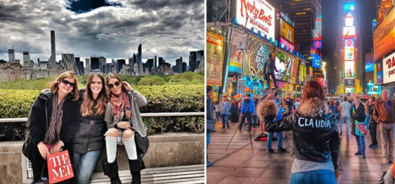 Durante su paso por Nueva York, la actriz mexicana no perdió oportunidad de tomarse una foto en el Met, donde de la forma más casual la ex de Tom Cruise se encuentra de paso.