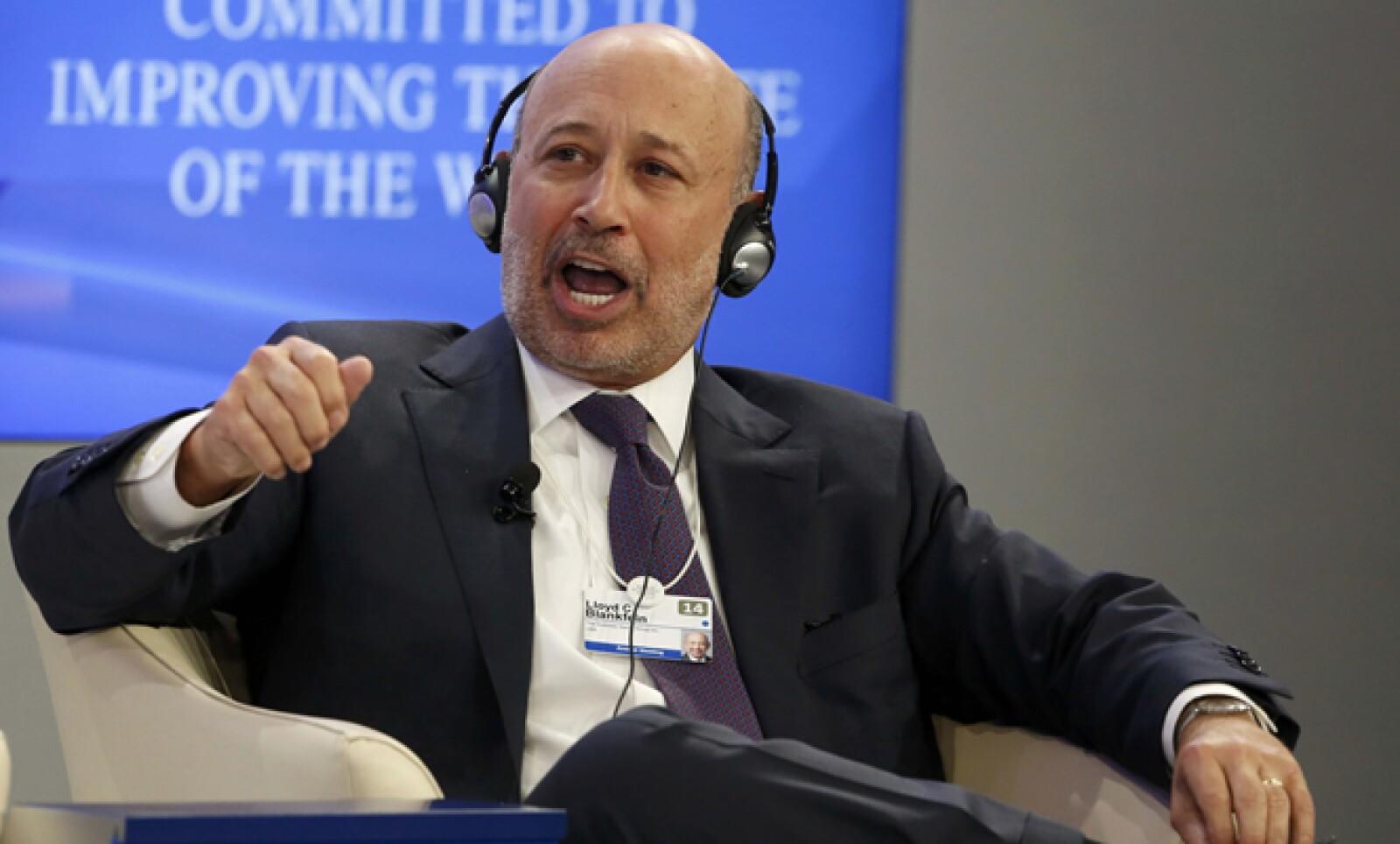 El presidente y consejero delegado de Goldman Sachs Group, empresa que registró una caída de de 21% en sus ganancias del cuarto trimestre.