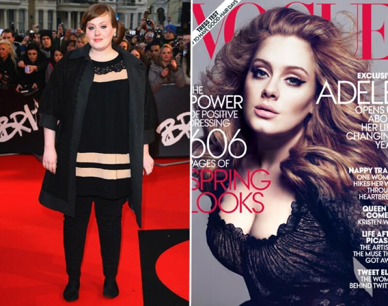La cantante Adele ha sorprendido con un notorio cambio en su peso, el cual dijo alcanzó movida por su salud.