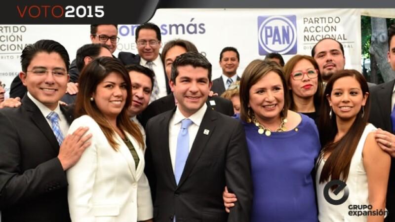 registro de los candidatos del PAN ante el IEDF