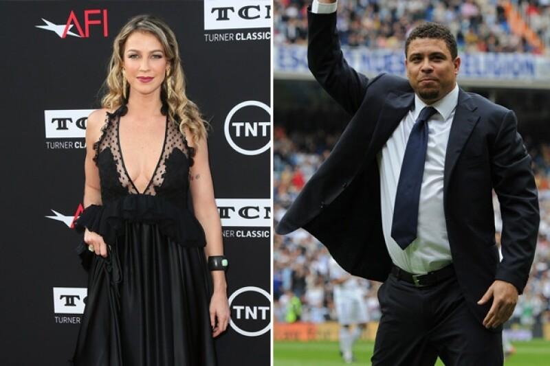 La cantante Luana Piovani y el ex seleccionado brasileño, Ronaldo.
