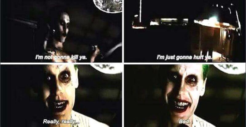 Imágenes del trailer de Suicide Squad con Jared Leto como The Joker.