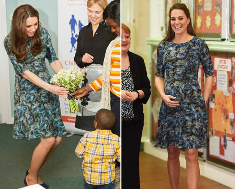 En sus siete meses de gestación hemos notado que la duquesa tiene prendas predilectas para lucir su pancita. Aquí su vestido, color y zapatos favoritos en esta feliz espera.