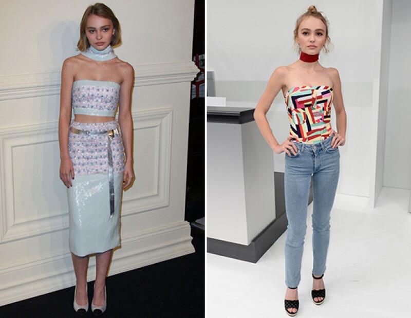 Lily-Rose Depp es una constante en las pasarelas de Chanel.