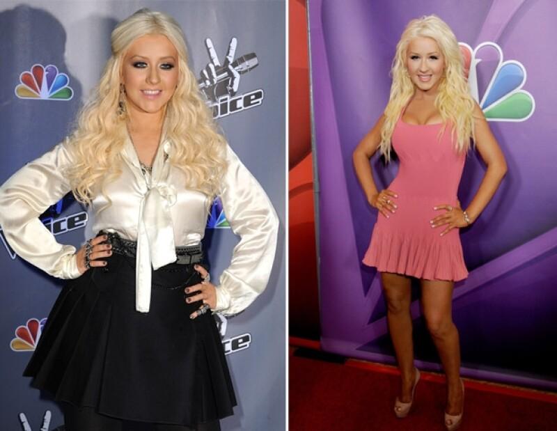 Christina ha logrado bajar de peso gracias a comidas saludables y ejercicio.