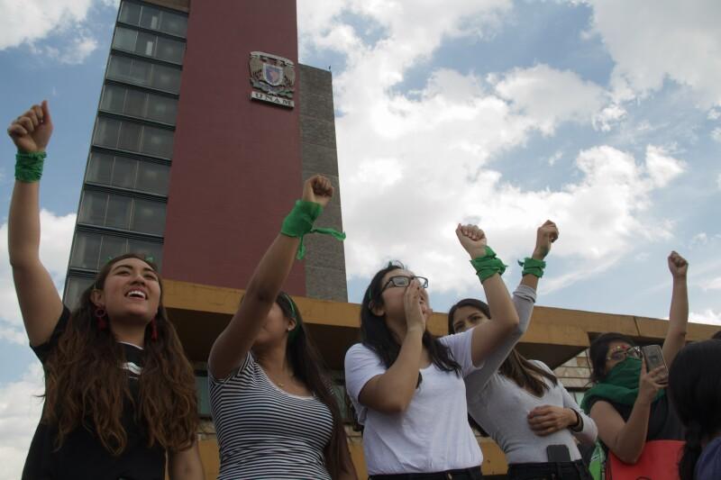 Marcha verde en la UNAM