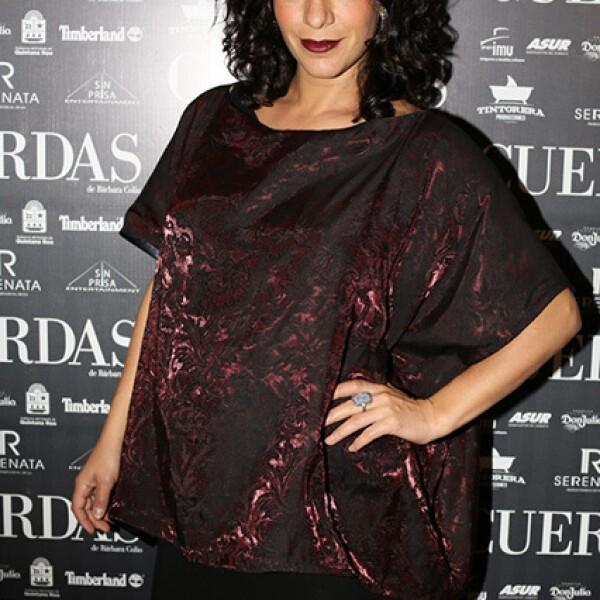 Daniela Schmidt con un avanzado embarazo.