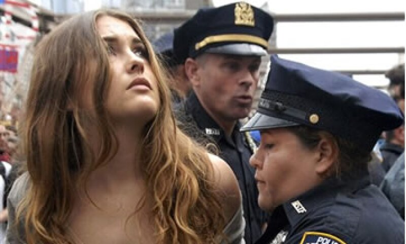 El 2 de octubre, 700 manifestantes fueron arrestados por la policía de Nueva York. (Foto: AP)