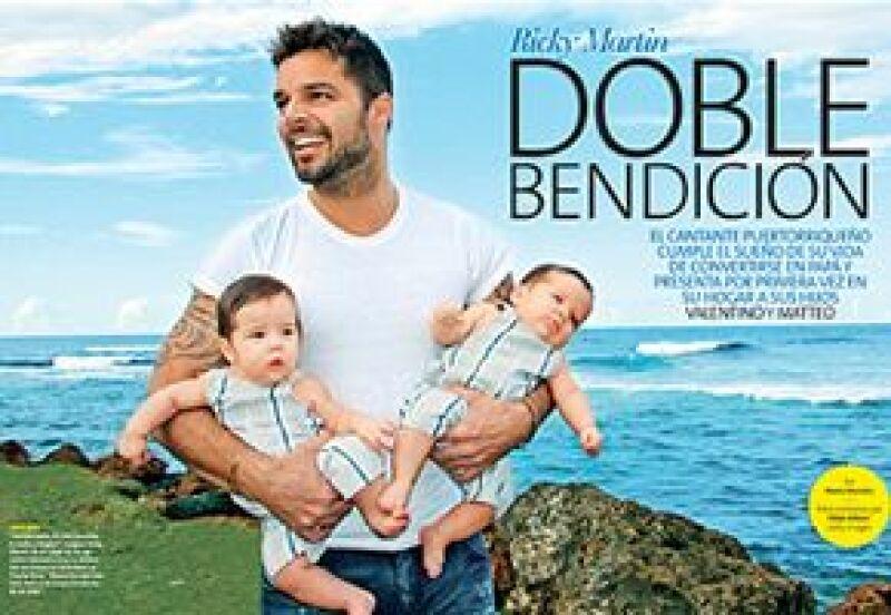 El cantante puertorriqueño posó al lado de sus hijos, Valentino y Matteo, y la revista People en Español lo trae en exclusiva para su edición que sale a la venta a finales de diciembre.